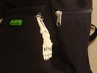 骨格キーホルダー